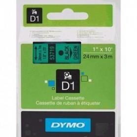 Taśma Dymo D1 53719, S0720990 szer. 24 mm, dł. 7 m, zielone tło, czarny druk