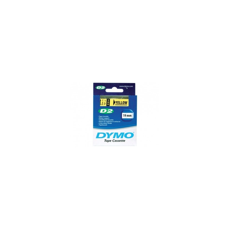 Taśma bazowa Dymo D2 19 mm x 10 m żółta