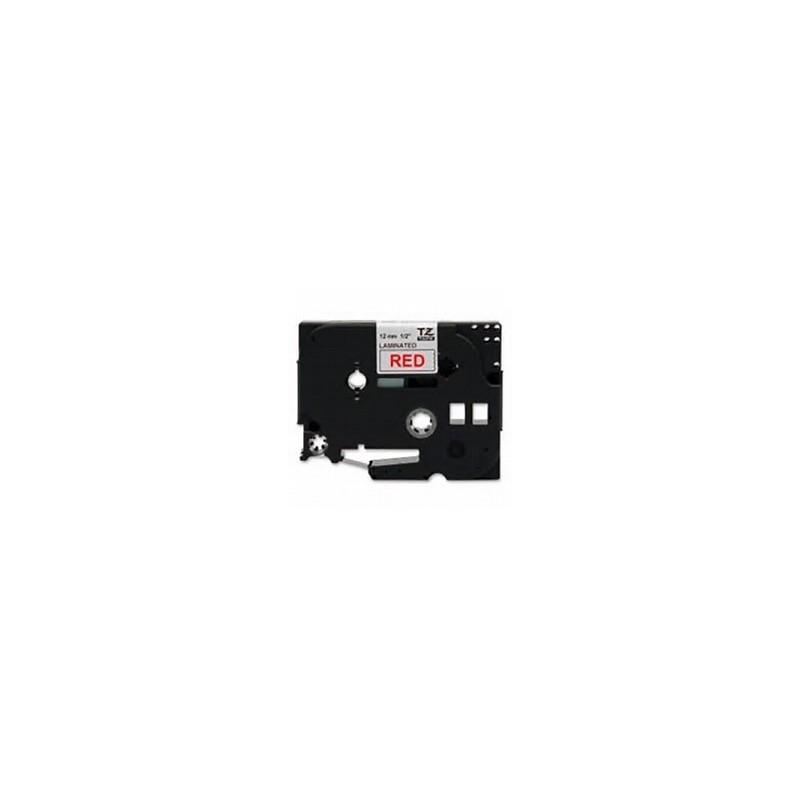TZe-232 Brother biała, czerwony nadruk szer. 12mm